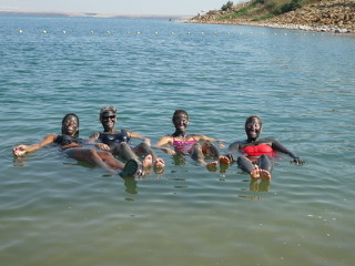 Just bobbing about on the Dead Sea.