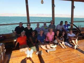 On the Sea of Galilee: calm waters, sweet spirit.