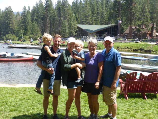 Great time with Aaron and Katie (Geerdes) Linderman and their boys at Hume Lake.