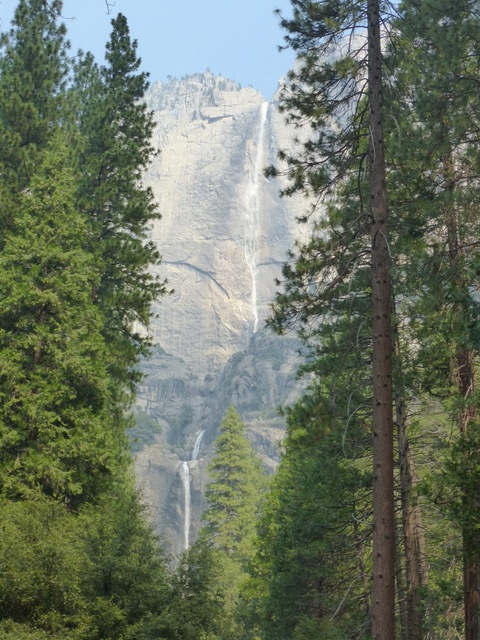 One last look at all three tiers of Yosemite Falls.