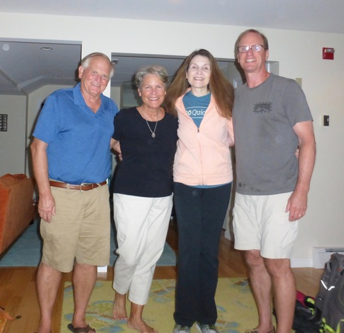 A farewell shot before we part ways with John and Marilyn after a wonderful four day vacation.