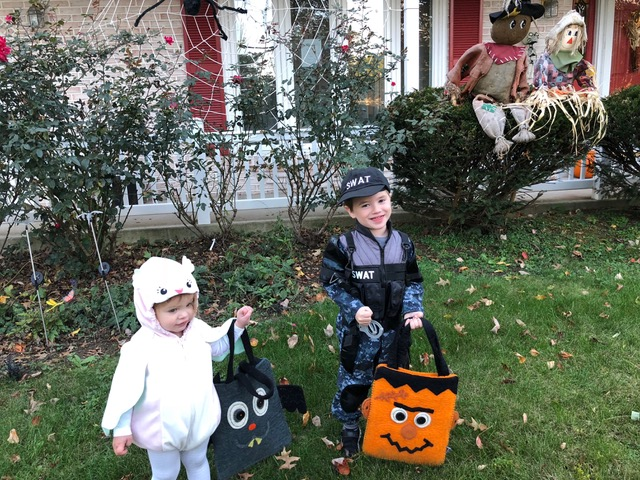Trick-or-treating fun