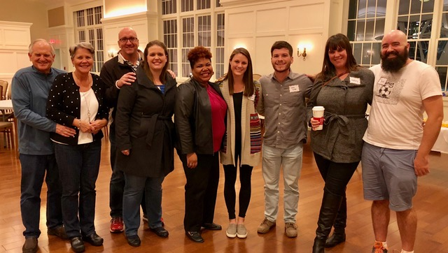 Gordon-Conwell Theological Seminary: couples night for the seminary wives class: we caught the last few stragglers at the end of the evening for this photo.