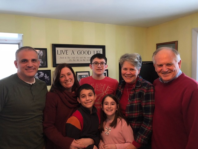 The Amico family sharing Christmas joy . . .