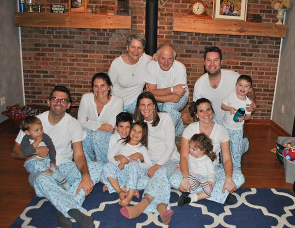 The tradition continues: matching jammies. Great sons-in-law. :)