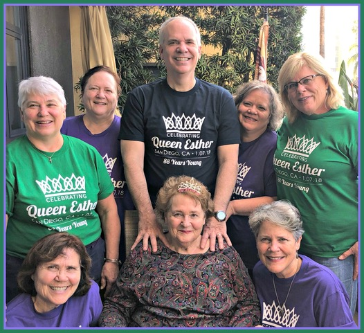 "The original 7 honoring ""Queen Esther"" . . . our Queen Mother."