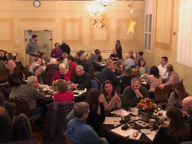 The couples' date night was done so well! Beautiful decorations, delicious food, and great fellowship around the tables.
