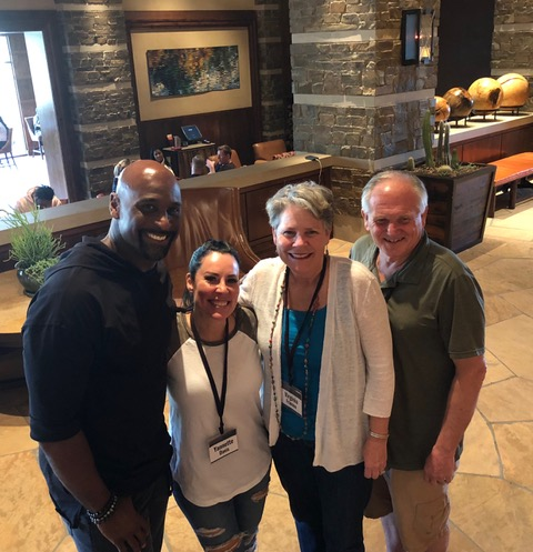 We always love reconnecting with Don and Yannette Davis, ex-Pats who lead the football ministry of Pro Athletes Outreach.