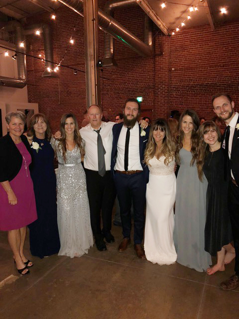 The Johnston clan celebrating Mark and Gia's wedding.