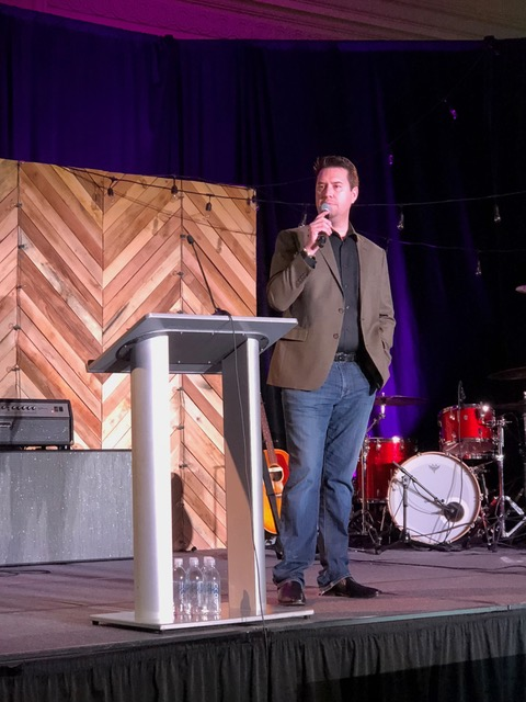 Our son-in-law Derek Johnson emceed much of the CURE President's weekend—and we think he did a great job.