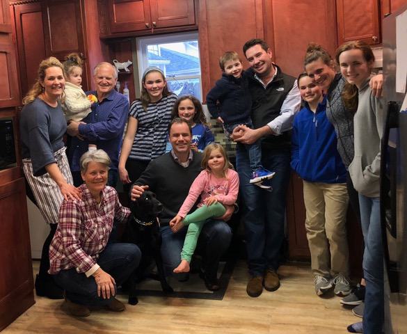 "Easter dinner with the Bellig ""chosen"" family . . . such a wonderful welcome to Grand Rapids."