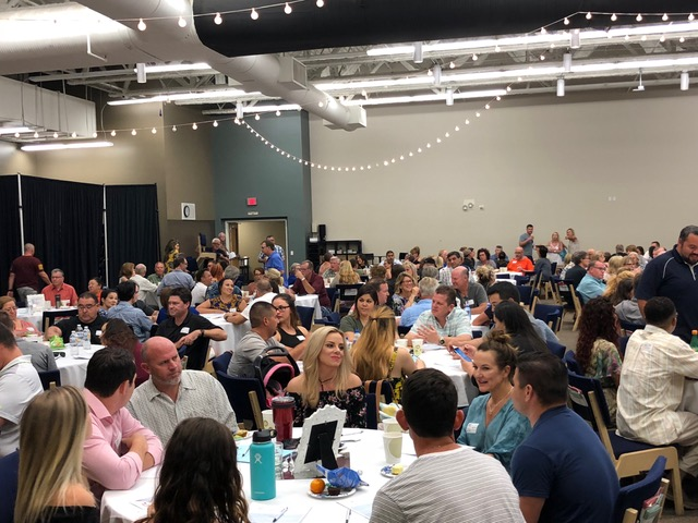 A light dinner, several talks, and questions around the tables filled up the three-hour event at Southwest Church.