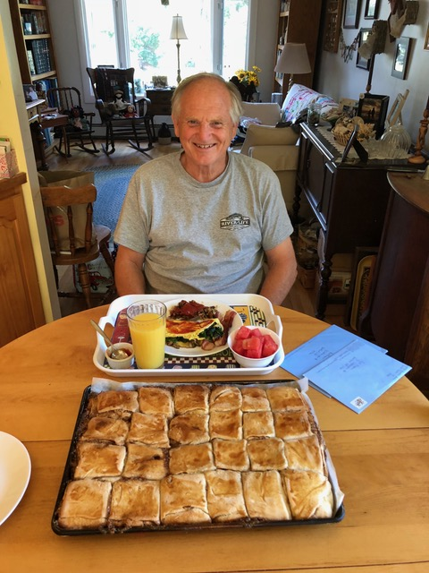 "Father's Day breakfast for our beloved ""Papa."""