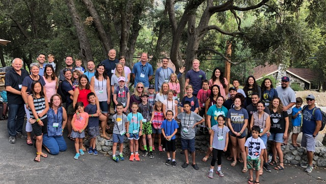 This group of 15 families were delighted to be at family camp together . . . different venue, same heart.