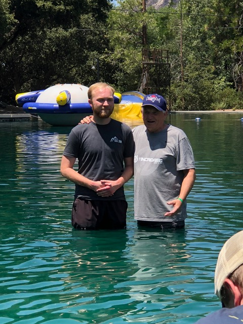 Paul baptizes Nat Pierce . . . a very meaningful moment.
