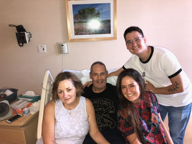 Tommy and Nancy Devlin and two of their four kids, Rachel and Paul, are working together as a family to help Tommy fully recover.
