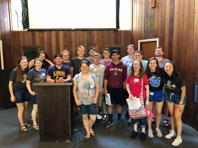Most of the college group at family camp 1.