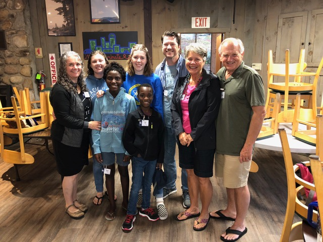 Scott, Jill, Katie, Ally, Mary and Ian Dunn made their way to family camp in New Hampshire.