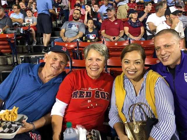 So fun to go to a Red Sox game with our dear friends Bob and Letty Balian.