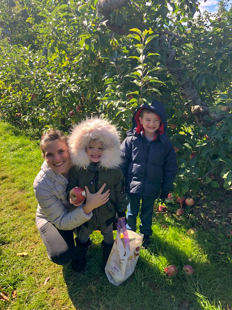 Apple picking is one of our favorite fall activities.