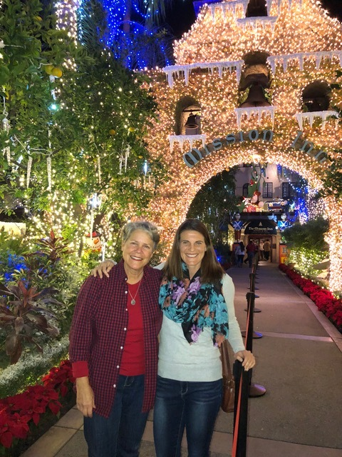 The Mission Inn lights with Lisa. Great way to kick off the Christmas season.