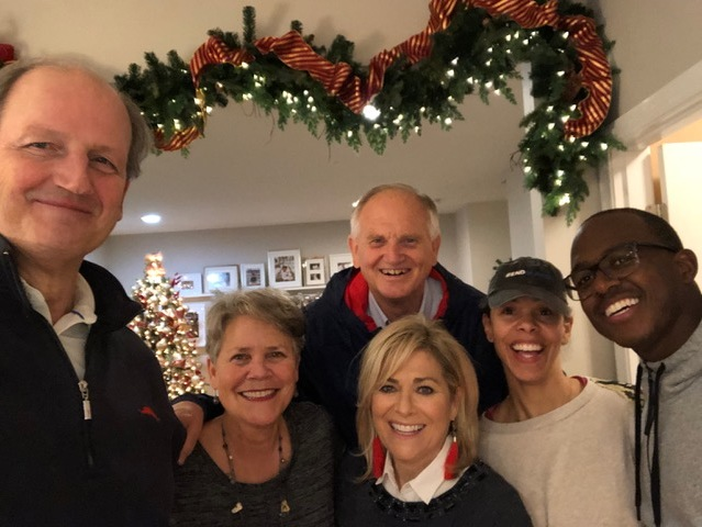 "The ""leadership team"" of the couples' study….couldn't do it without them, and couldn't get this selfie without Don Hasselbeck's long arms."