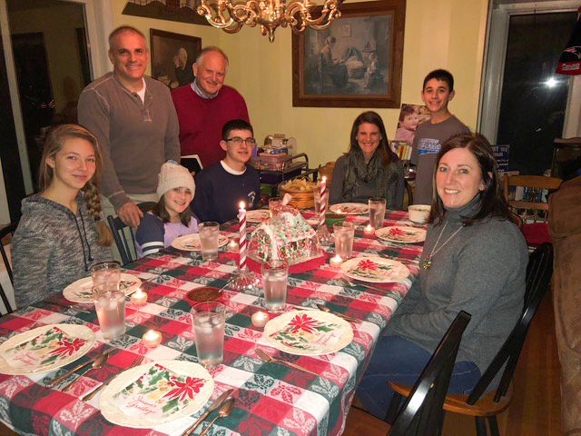 Our 14th annual Christmas Eve Eve dinner with the Amicos was extra special this year with their German daughter joining the gang.