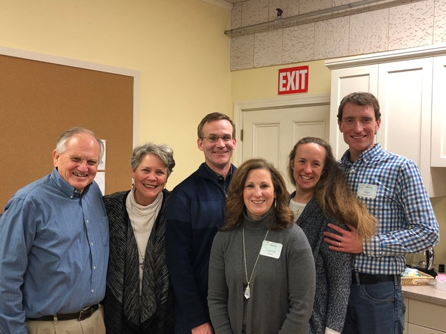 Dan and Candy Smiley and Adam and Leah Kohlstrom hosted the date night at Chestnut Street Baptist Church.