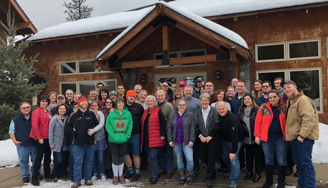 The Moses Lake Alliance Church's marriage retreat attendees.