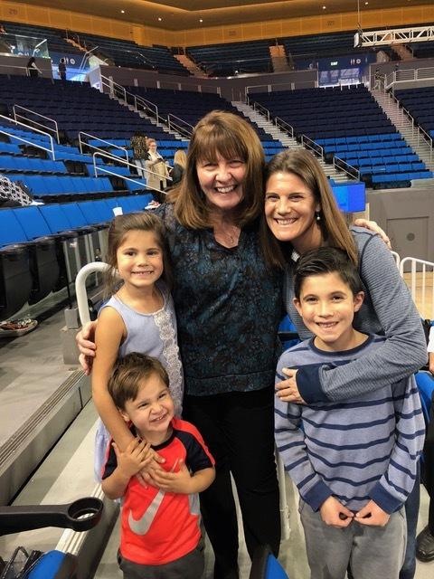 Lisa's Athletic Training mentor, Lorita Granger, serves the women's gymnastics team.