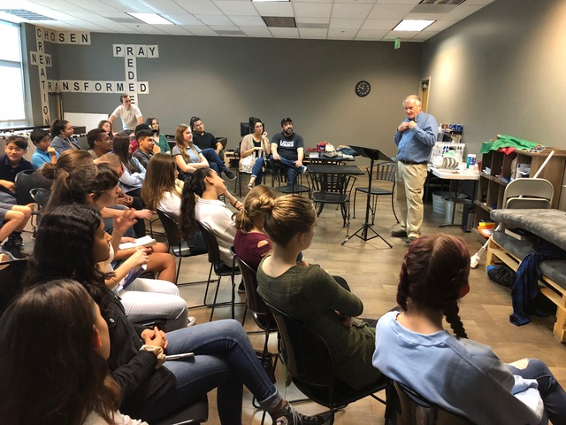 The junior/senior high Sunday school class at the Rock Community Church interact with us on the topic of God-honoring relationships.