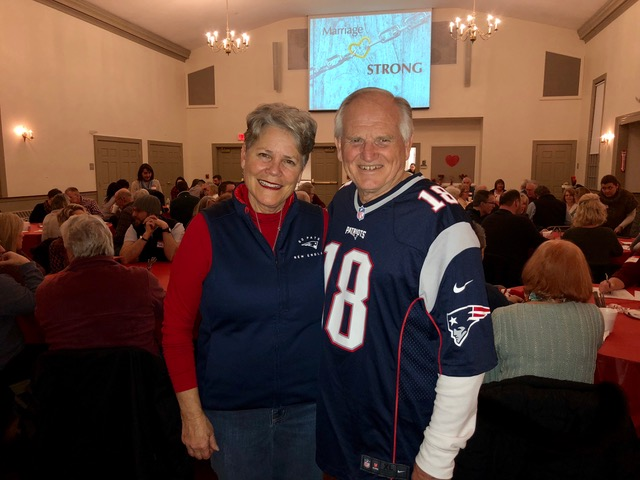 Ready for the Super Bowl, but not before speaking for South Shore Baptist Church's date night.