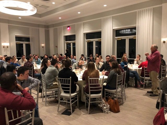 """We are most thrilled that almost one third of those attending the conference had been married 6 years or less. This is the """"newlywed dinner."""""""