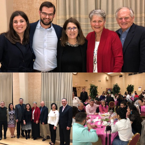 Top photo, we stand with our dear friends the Bilazarians; lower left is of the committee responsible for making this event happen.