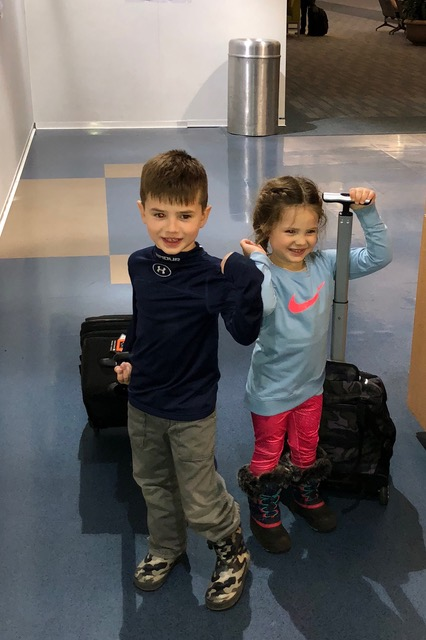 Our personal greeters and valets at the airport.