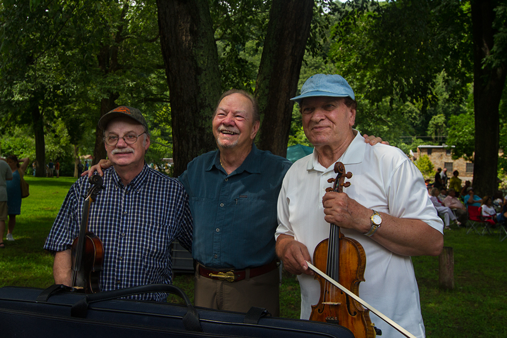 Madison County Fiddlers, Roger Howell, Bobby Hicks and Arvil Freeman, Marshall, 2013.