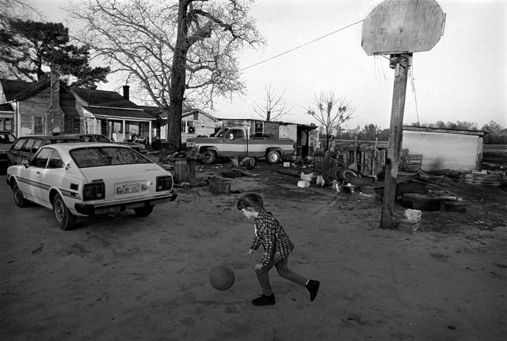 Sylvester Walker's Granddaughter Playing Basketball in the Back Yard, Spivey's Corner, North Carolina 1989