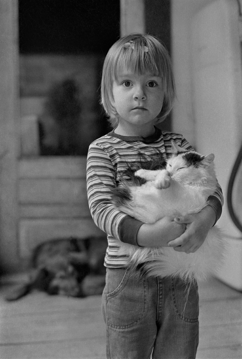 Melanie and the Jumping Cat, Sodom, Madison County, NC 1975