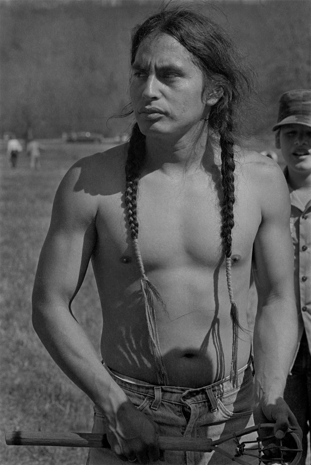 Cherokee Stickball Player at the First Cherokee Tribal Reunion since the Trail of Tears, Red Clay, GA 1984