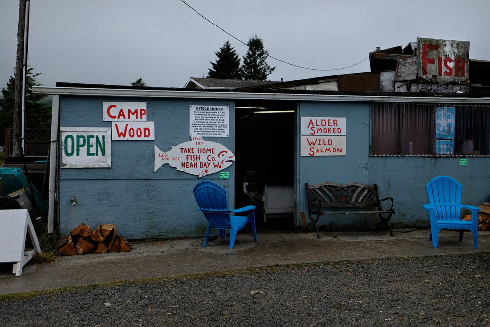 Neah Bay, Washington, 2014. More creative signage and even better fish. For breakfast, with eggs, toast and jelly, perhaps a tater, hard to beat in my mind.