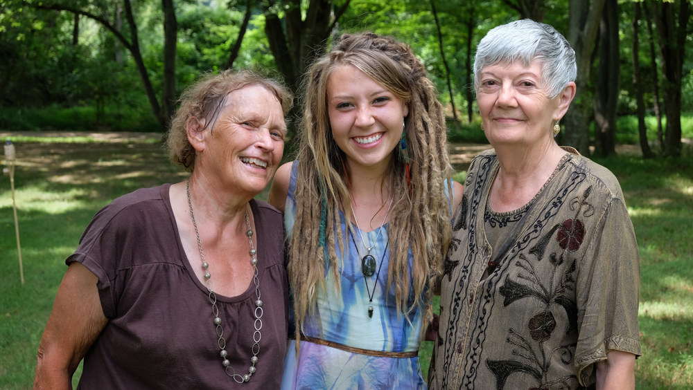 Kelsey and Her Two Grandmothers, Sophronia Green (left) and June Jenkins (right), Hot Springs, NC 2014.