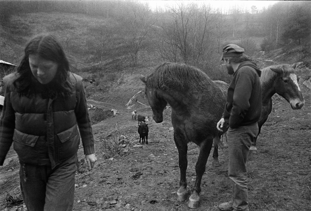 Roland Twining and Ida Thompson at their Farm on Hogskin Branch, Madison County, NC 1981.