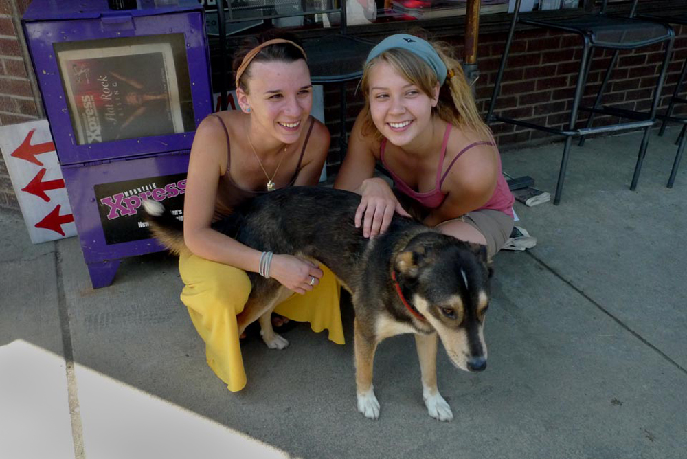 With Kelsey and Rocky Before Their First Cross-Country Trip, Marshall, 2010.