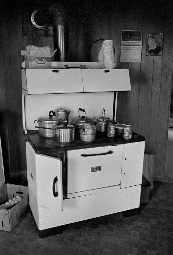 Bonnie Chandler's Cookstove, Rice Cove 1976