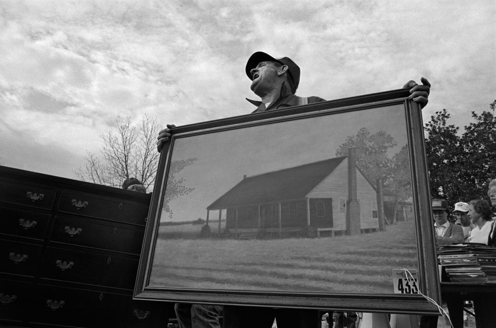 Farm Estate Sale, Bishopville, SC, 1987.