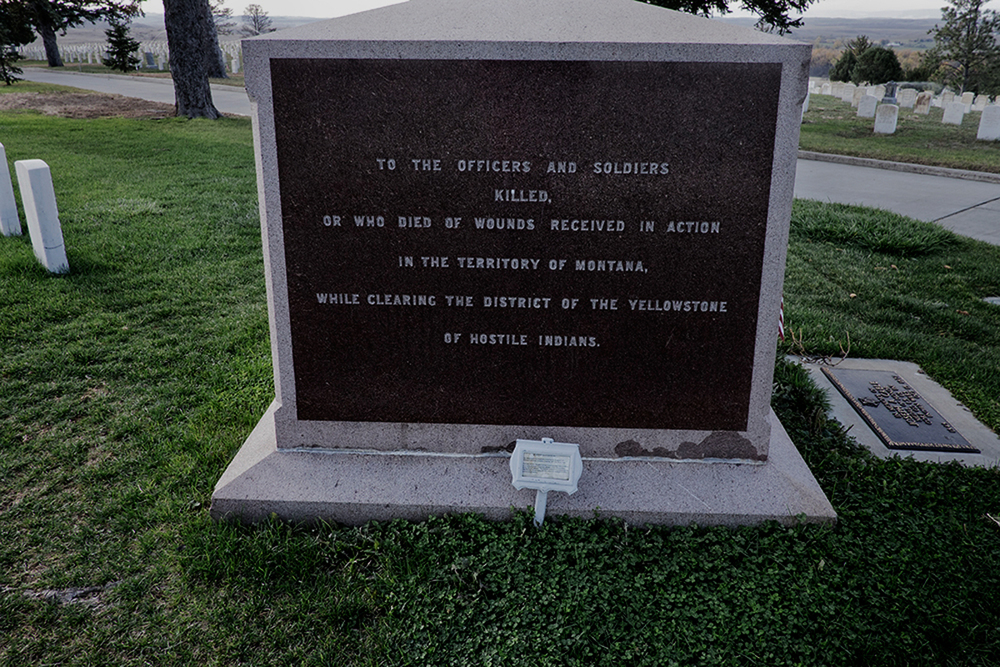 Memorial Marker, Custer National Cemetery, Hardin, Montana