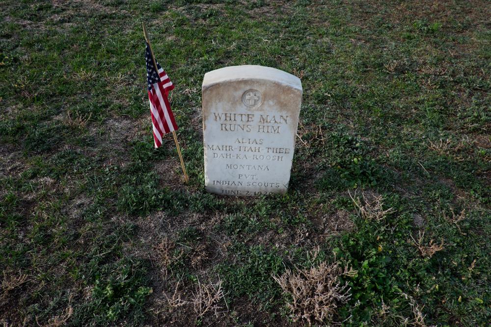 Grave Marker, Custer National Cemetery, Hardin, Montana