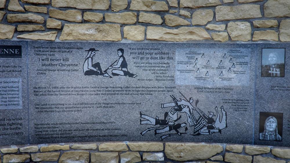 Indian Memorial themed  Peace Through Unity, Little Bighorn Battlefield Memorial, Hardin, Montana