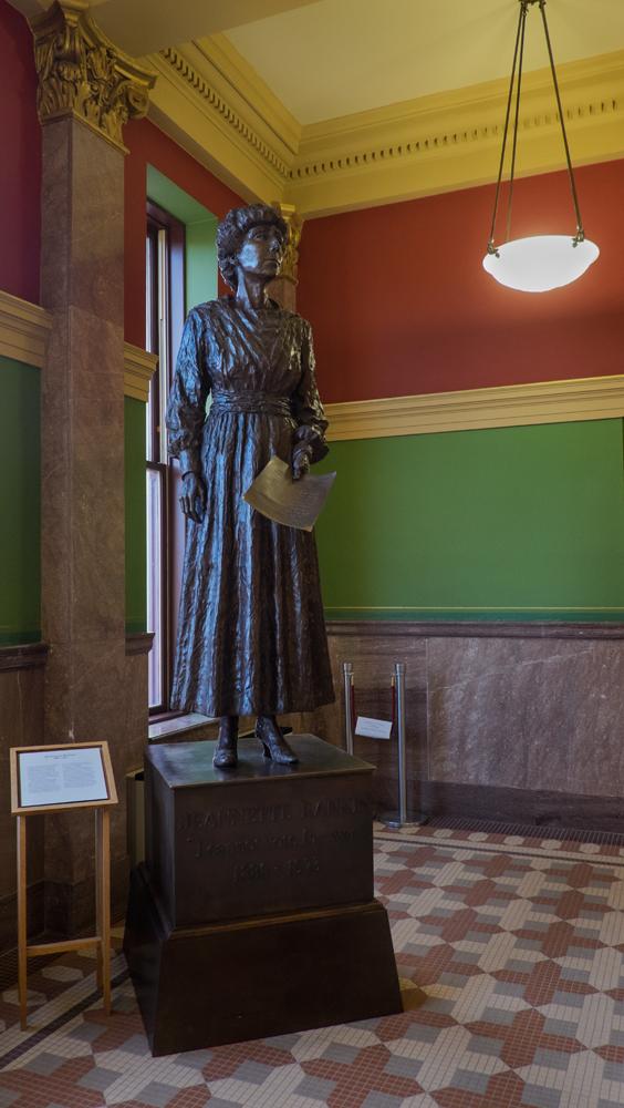 Jeannette Rankin, Montana State House, Helena, Montana