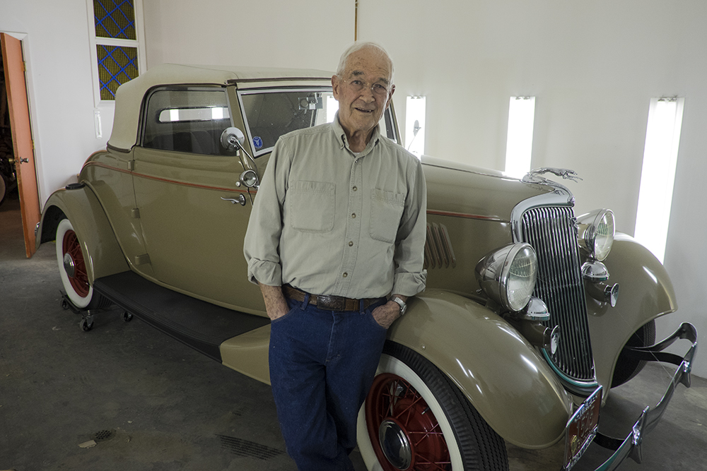 Al Jenkin with his restored '34 Ford Coupe, Billings, Montana